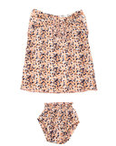 organic cotton dress flower pink + bloomer SS20_