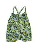 suit with straps flower green SS20_
