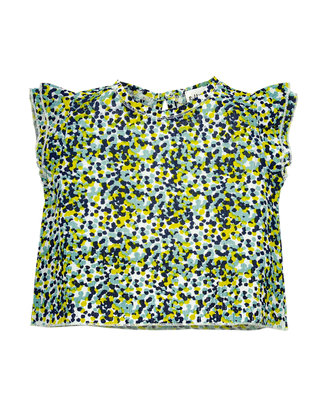 organic cotton blouse flower green SS20