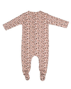 footed suit pink AOP leaf AW20